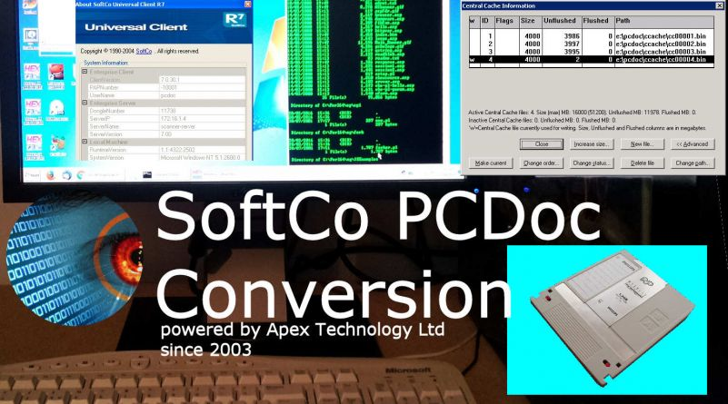 The Recovery of Files from the Softco PCDoc Document Management System for Conversion and Transfer to modern electronic filing systems or NAS archive