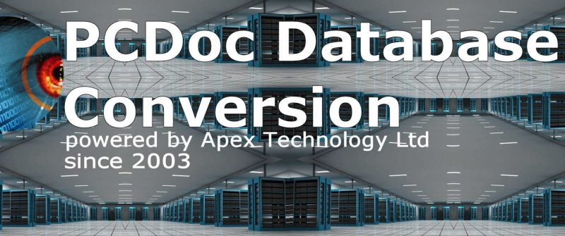 PCDOC Database conversion extract export file index and document metadata for import to new management systems database eg Laserfiche Excel, Access, CSV  DocXP