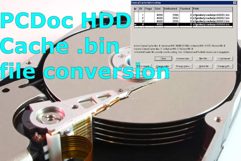 PCDoc .bin files storing documents that needed to be extracted and converted to PDF or TIF