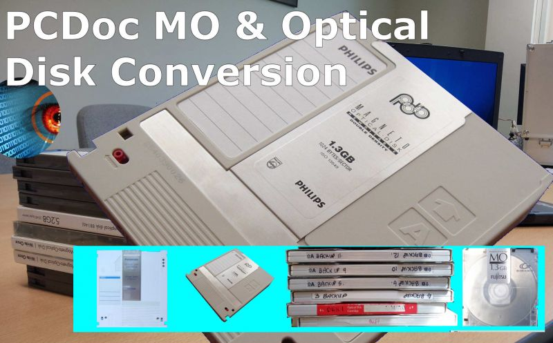 PCDOC Optical disks MO disks Magneto Optical disks converting migrating transferring data recovery export import read corrupt disks copying files off